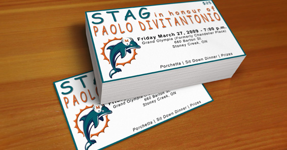 Miami Dolphins Stag Ticket