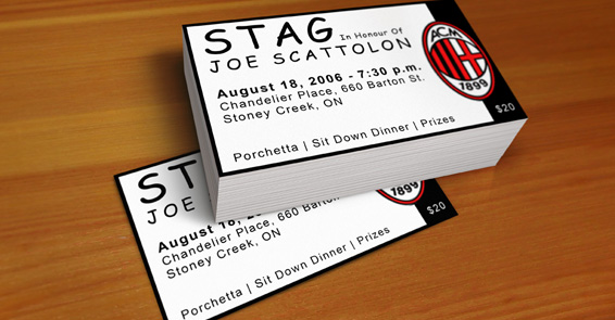 AC Milan Stag Ticket
