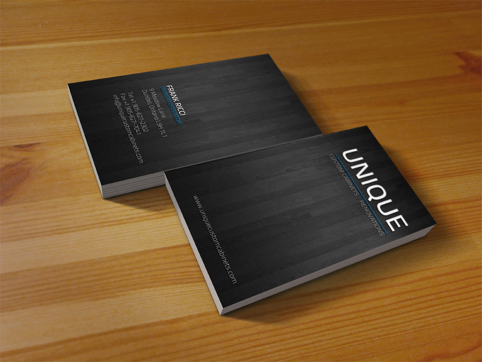 Print design portfolio epic studios brochures catalogues unique custom cabinets and renovations business card reheart Images